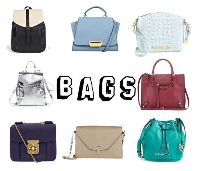 Bags+ by fourleafclover011 on Polyvore featuring polyvore, fashion, style, Brahmin, MICHAEL Michael Kors, Loeffler Randall, Chloé, Balenciaga, Valextra and Boohoo
