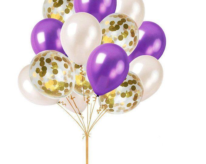 Black Gold Confetti Balloons Gold Confetti Balloons Gold | Etsy - #balloons #black #confetti - #new