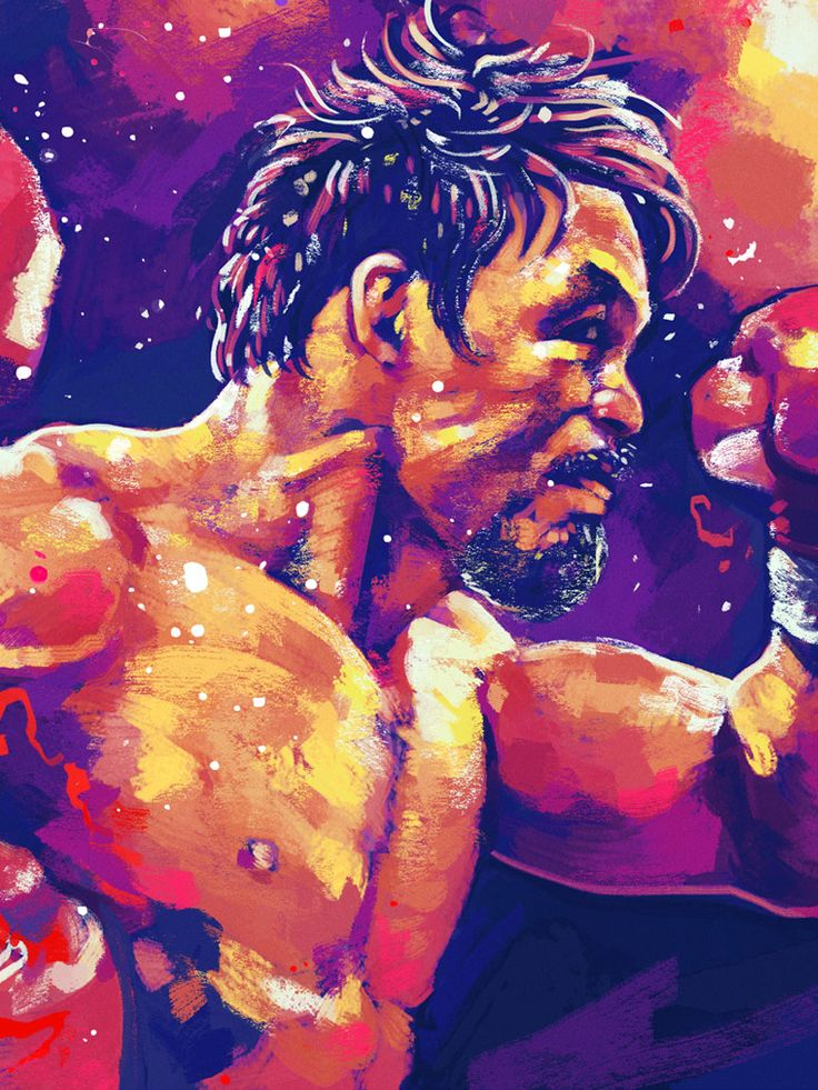 colorful artwork of boxer Manny Pacquiao : if you love #MMA, you'll love the #UFC & #MixedMartialArts inspired fashion at CageCult: http://cagecult.com/mma