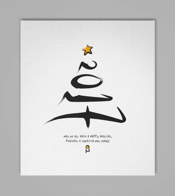 christmas new year greeting cards by vasilis magoulas newyear christmas 2017 greeting card typography art pinterest christmas cards