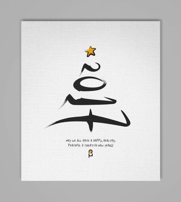 christmas new year greeting cards by vasilis magoulas newyear christmas 2017 greeting card typography art pinterest christmas cards