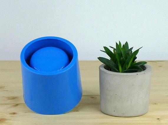 Concrete planter mold Concrete flower pot mould Silicone