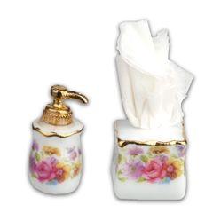 Soap Dispenser and Tissue Set by Reutter Porzellan