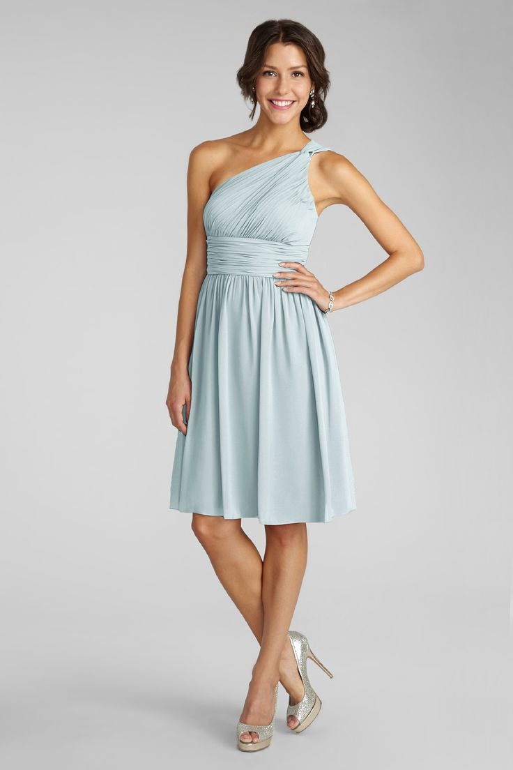81 best lohmann hanson bridesmaids dresses images on pinterest subtle ruching highlights this flowy one shoulder gulf stream chiffon dress with a flattering set in waist ombrellifo Image collections