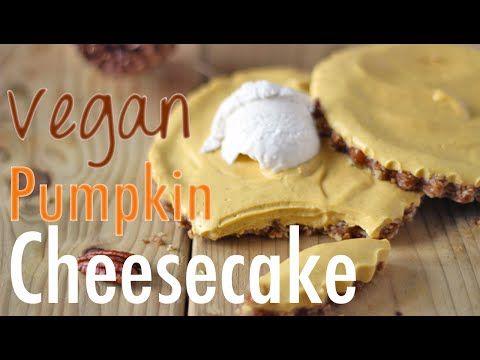 Raw Vegan Pumpkin Cheesecake Recipe | No Bake - Healthnut Nutrition