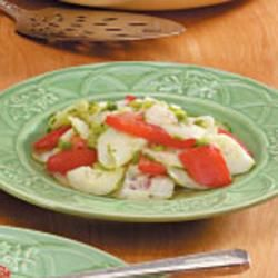 Cucumber Tomato Salad Allrecipes.com: Cucumber Tomato Salad, Low Calories, Tomatoes Salad Recipes, Cucumber Tomatoes Salad, Ideas Side, Cold Salad, Tomato Salad Recipes, Green Onions, Summer Recipes