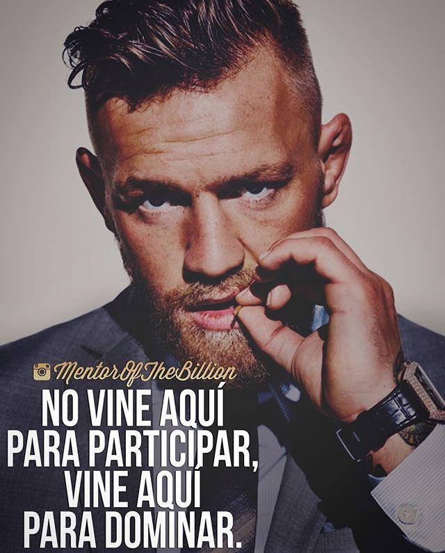 Recuerda esto cada vez que empieces algo, no hagas las cosas por hacerlas  @mentorofthebillion #frases #motivación #inspiración #éxito #mentorofthebillion -Connor McGregor-