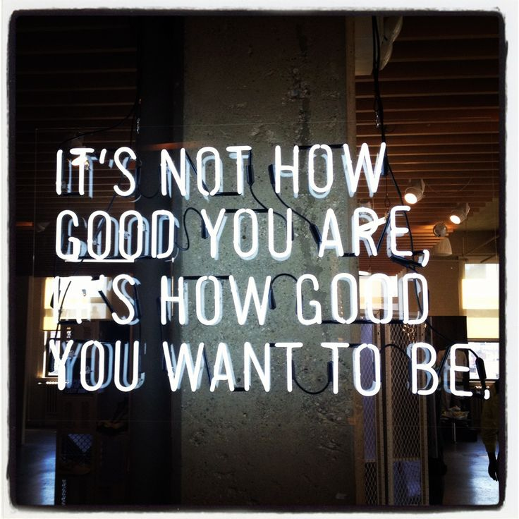 How good do you want to be?  A little fitspiration at the Nike offices this a.m.