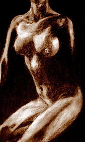 'Akt Frau - Sepia' von Susanne Edele bei artflakes.com als Poster oder Kunstdruck $16.63