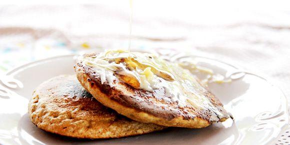 receita Panqueca integral e muffins de amora e cream cheese