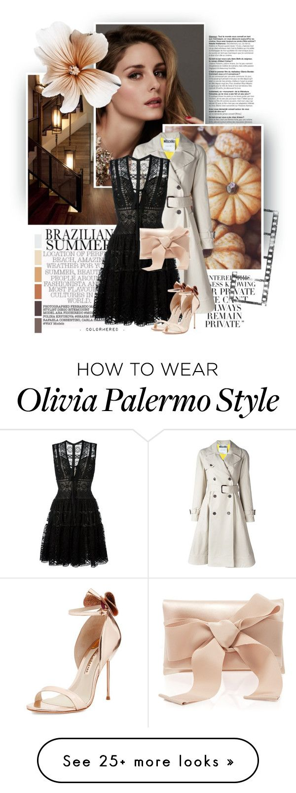 """""""Power"""" by color-me-red on Polyvore featuring Beauty Secrets, Moschino, Elie Saab, Sophia Webster and Oscar de la Renta"""