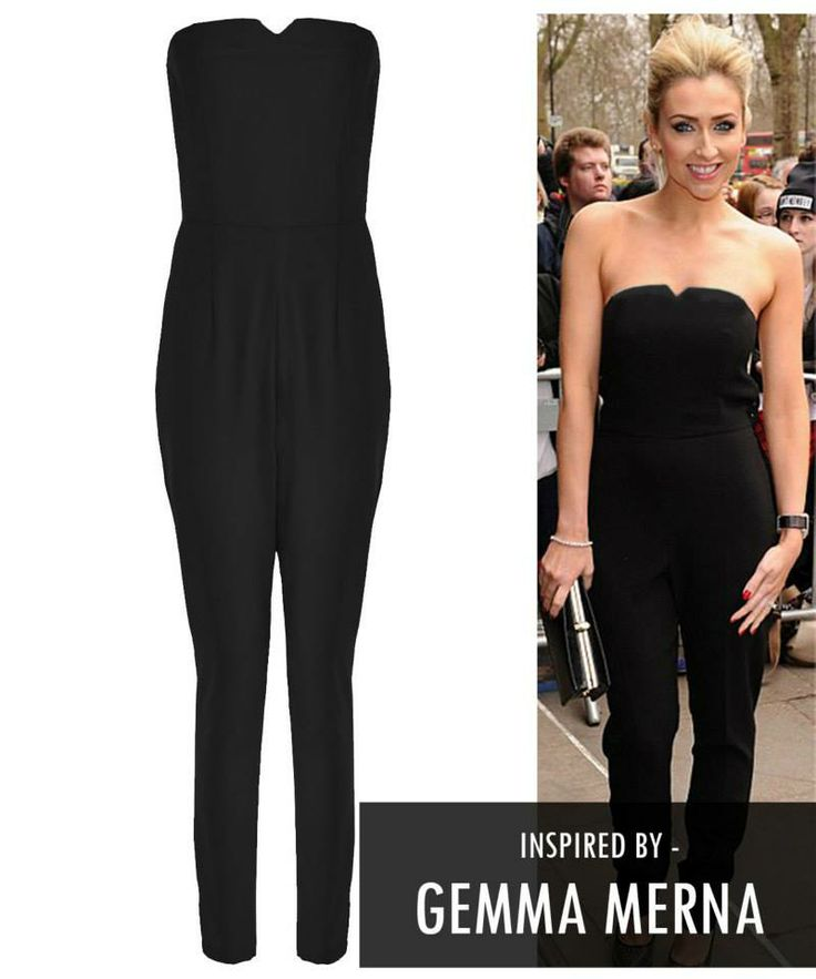 Gemma Merna Black Plain Pastel Bow Back Jumpsuit £24.99