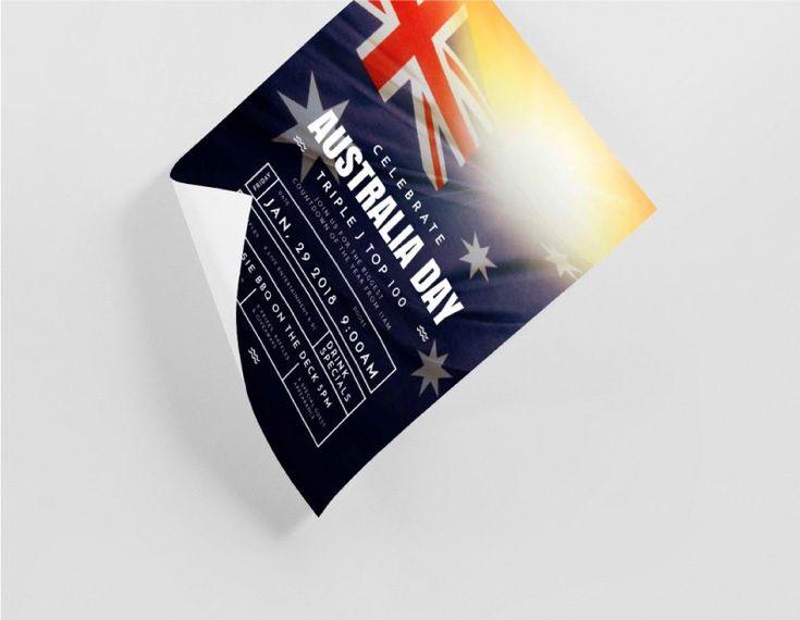 Customizable Australia Day Posters - DIY Templates with Easil - Australian Flag Design.