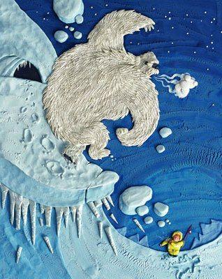 'Peg And The Yeti', illustration by Barbara Reid