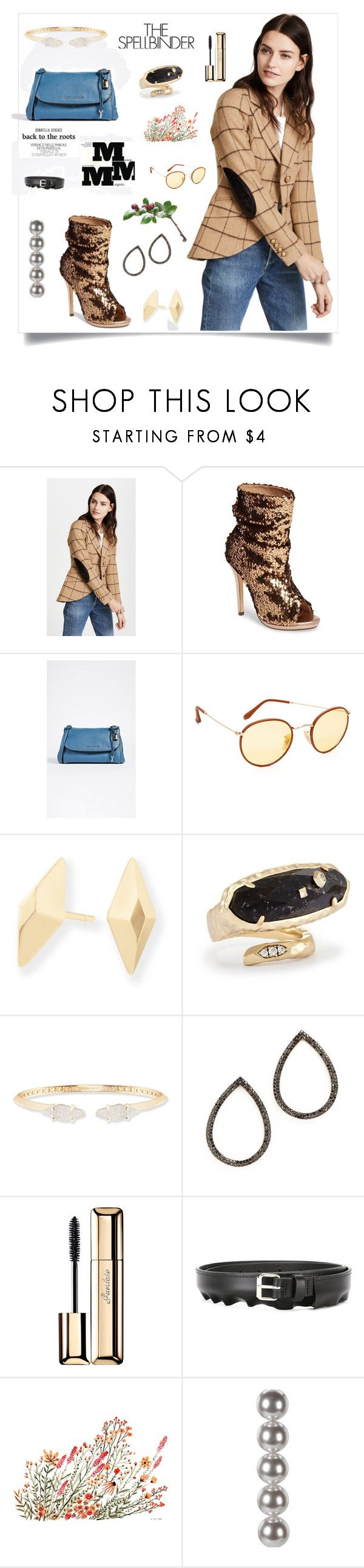 """Blazer In Camel Windowpane..**"" by yagna ❤ liked on Polyvore featuring Lauren Lorraine, Marc Jacobs, Ray-Ban, Kendra Scott, Maison Margiela, MAHA LOZI, Guerlain, Peter Jensen, Gwyneth Shoes and Vikki Chu"