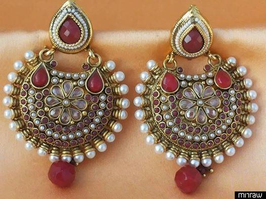 Beautiful antique pearl earrings