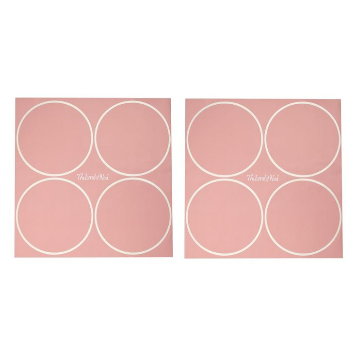 Shop Geometric Furniture Decal (Pink Dot).  We think this is an idea that is going to really stick.  The set of furniture decals includes an abundance of pink polka dots that peel and adhere to any smooth surface.