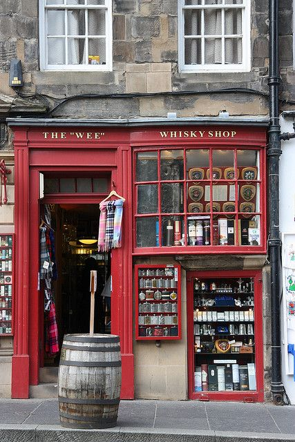 """The 'Wee' Whiskey Shop"" Store Front on the Royal Mile, Edinburgh, Scotland"