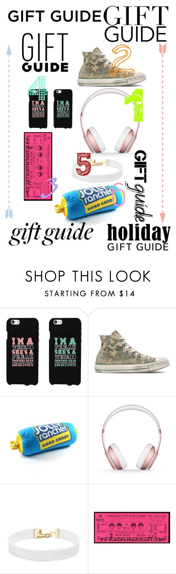 """""""Bestie Gift Guide!"""" by ravenclaw20232 ❤ liked on Polyvore featuring Converse, Beats by Dr. Dre and Vanessa Mooney"""