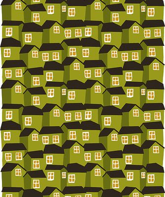This is a beautiful pattern - Mokki houses print from the Marimekko fabric collection.