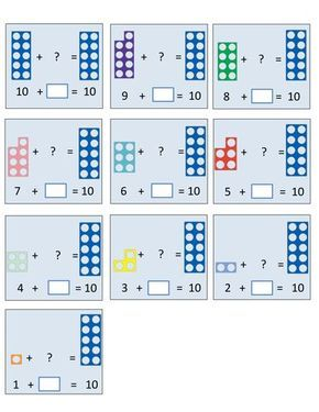 Number Bonds to 10 and 20 (Numicon)