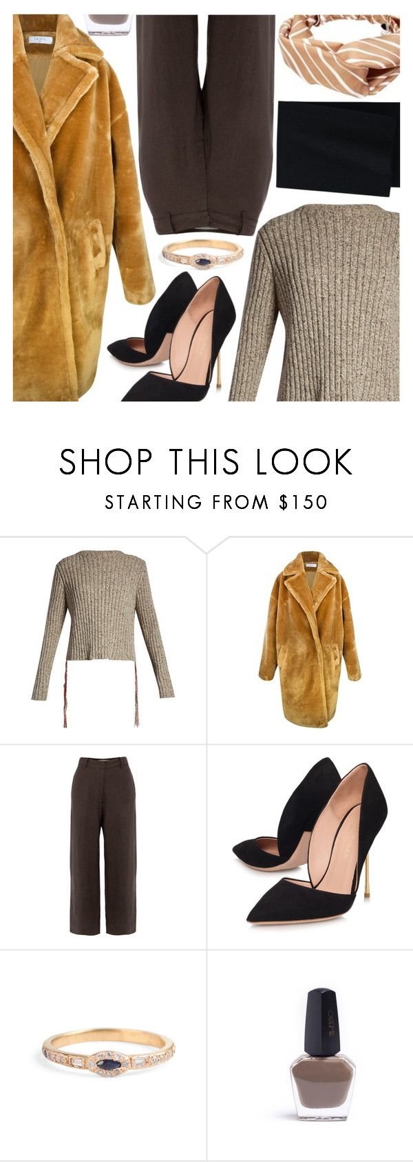 """""""Untitled #6909"""" by amberelb ❤ liked on Polyvore featuring The Row, Paisie, All That Remains, Kurt Geiger and Uniqlo"""