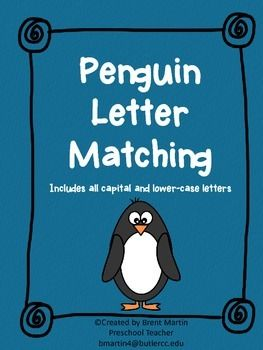Updated Version!  With these cute penguin letter cards your kiddos can work on their letter recognition by matching the letters.  You can format this in a number of different ways.  It can be used as a memory style game, small group activity, large group activity and so on.