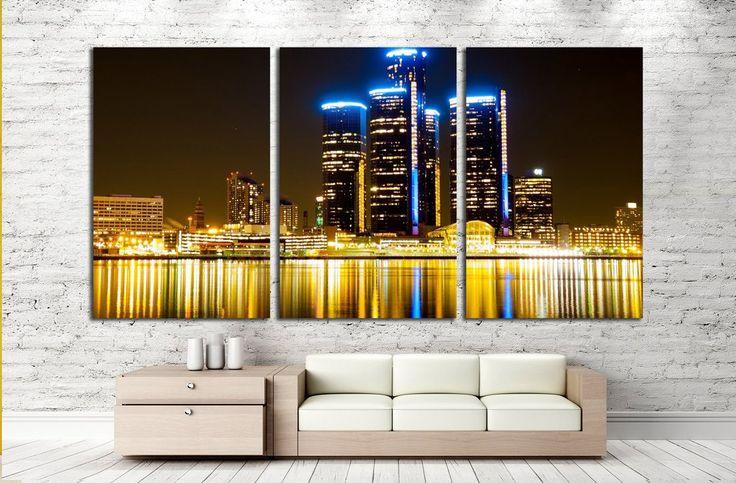 Detroit Skyline at Night №2258