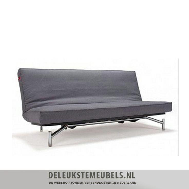 """Deze slaapbank Spider spring van het merk Innovation uit de One room living collection is ontworpen door """"Per Weiss"""" en """"Peter Henriksen"""".  De maten van het bed zijn 140x200cm. De zithoogte is 39cm. De rugleuning is eenvoudig in 3 standen te stellen; rechtop, relax en plat als bed. Het Spider sofa bed is uitgevoerd met een spring pocketvering matras, voor optimaal zit- en ligcomfort. http://www.deleukstemeubels.nl/nl/spider-spring-361-grey-texture/g6/p1638/"""