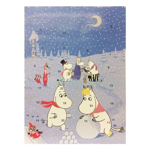 Moomin chocolate Christmas calendar