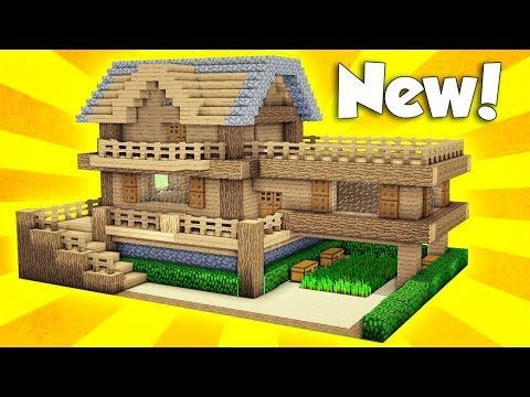 Minecraft Wooden Survival House Tutorial How To Build A House In - Minecraft hauser easy