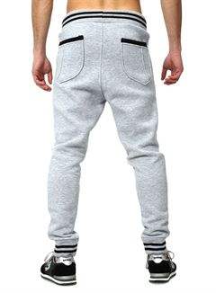 Akito Tanaka Low-Crotch Sweatpants grey