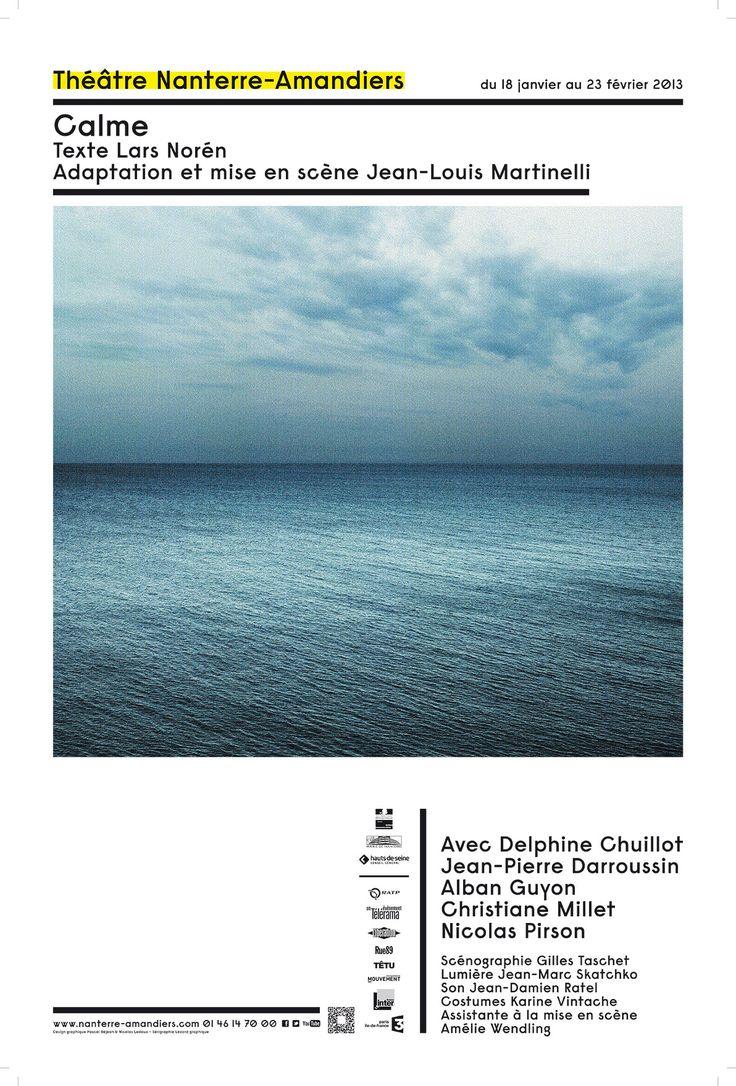 Pascal Béjean - Pascal Béjean & Nicolas Ledoux / Calme Réalisé pour le Théâtre Nanterre-Amandiers Sérigraphie 4 tons 150 / 100 cm 2012