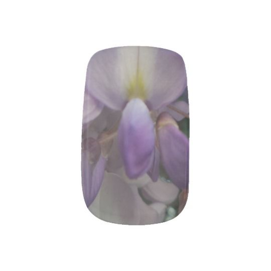 #zazzle #girl #woman #gift #giftidea #Nail #Art #Minx® #Purple #Flower  #Wraps