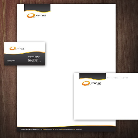 A Black and White Stationery Set Design. #stationery #design  $29.00
