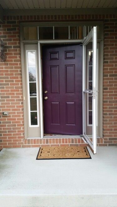 I Like The Look Of Dark Purple Against Brick We Could Paint Blue Part Gray Or Taupe Nv Patton Home Ideas Pinterest Doors
