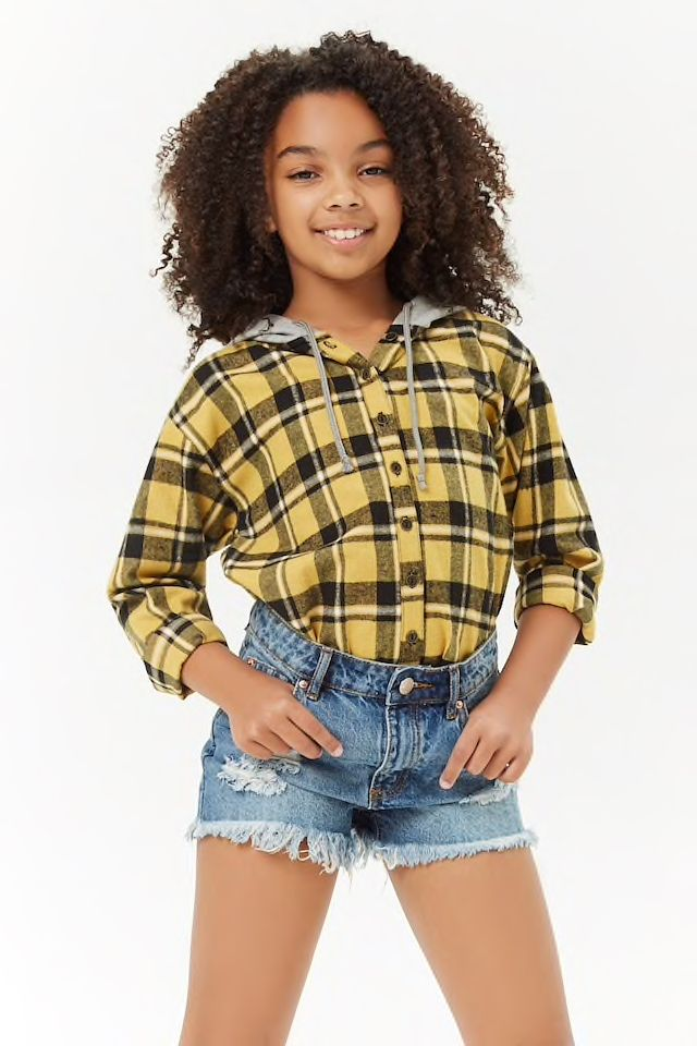 Girls Distressed Denim Shorts Kids Cute Outfits With Jeans
