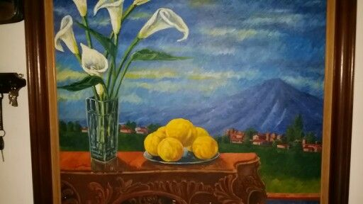 Bodegon con naranjas - Oleo