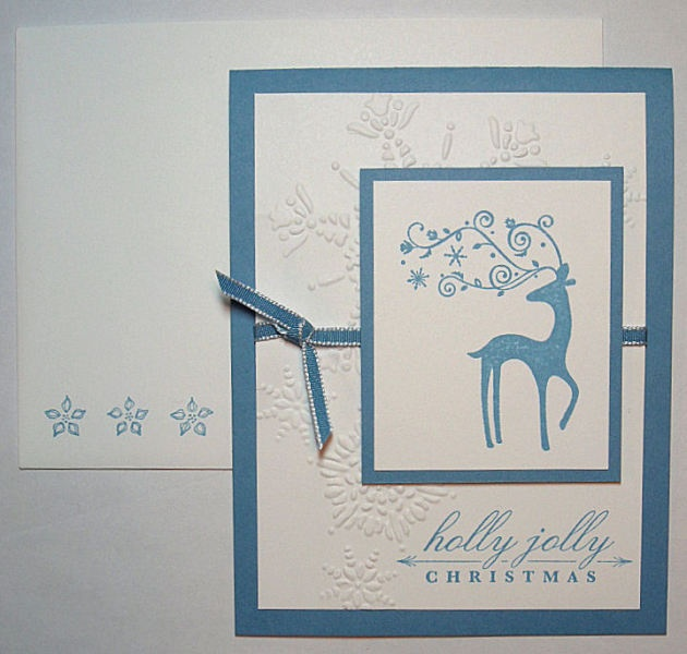 Dasher Christmas Card  (Stamp-a-Stack)