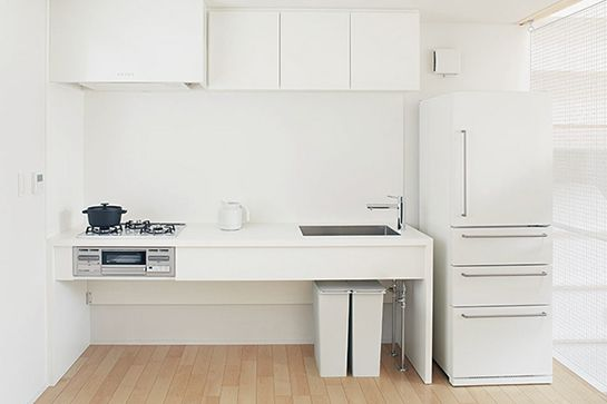 We Want To Move Into This Small-Space Japanese Apartment #refinery29 http://www.refinery29.com/muji-urban-apartment#slide3