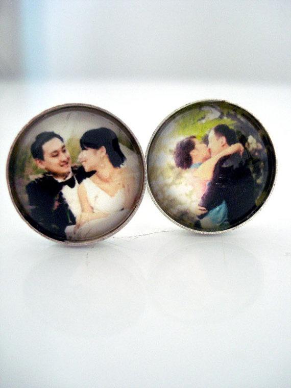 Custom Silver Photo Cufflinks  Personalized with by jerseymaids, $35.00
