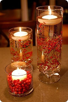 Seasonal and Simple.  A great inexpensive centerpiece.