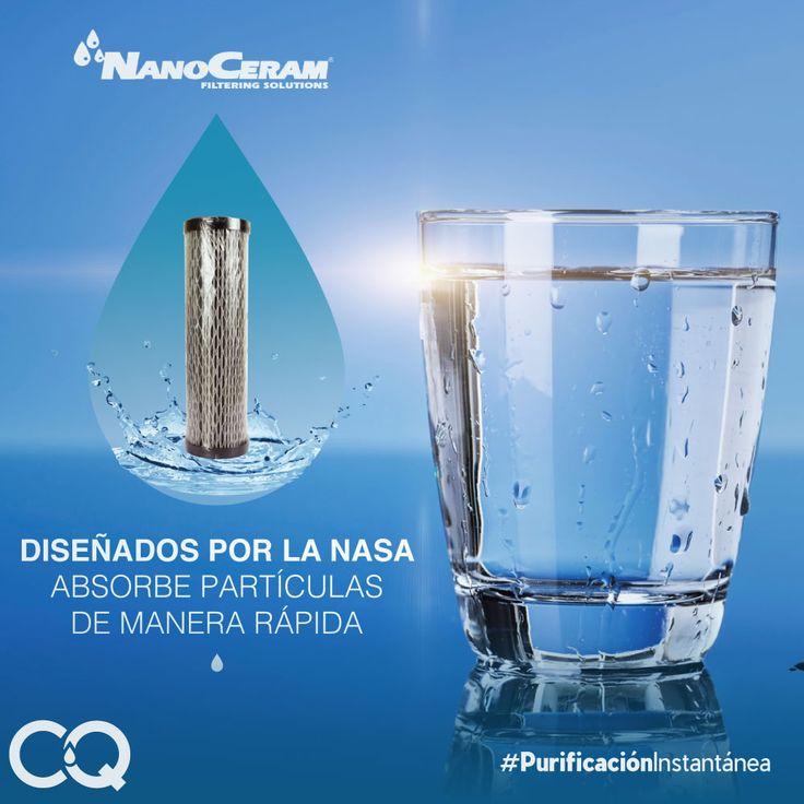 #Nanofilter contiene filtros #NANOCERAM diseñados por la #NASA para eliminar partículas gruesas y finas del agua. Adquiérelo con #Acquafilter. Solicita información aquí --> http://bit.ly/AcquafilterInformación