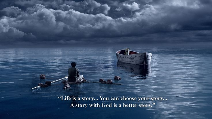 Life Of Pi (2012) - A young man who survives a disaster at sea is hurtled into an epic journey of adventure and discovery. While cast away, he forms an unexpected connection with another survivor: a fearsome Bengal tiger.  Director: Ang Lee  Writers: Yann Martel (novel), David Magee (screenplay)  Stars: Suraj Sharma, Irrfan Khan, Adil Hussain