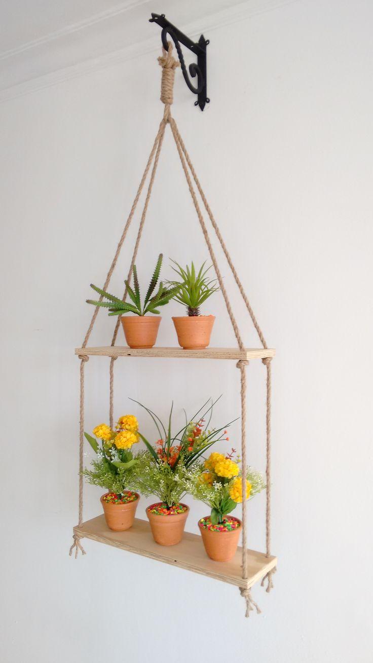 Decorativo colgante con plantas artificiales