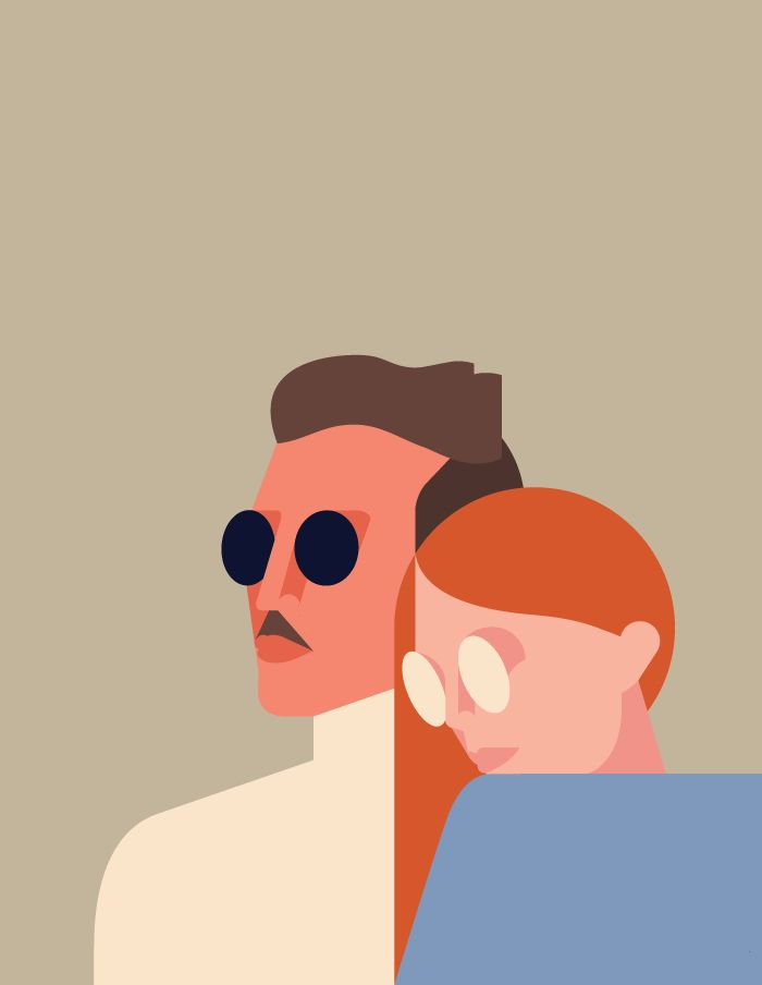"Illustration by Robert Bailey 2015. Illustrations for the ""Story of Shades: A Century of Circles"" Feature in Mykita Journal."