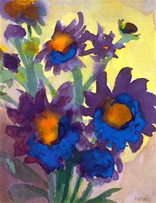 Blue Violet Blossoms Emil Nolde circa 1945-1948 ...