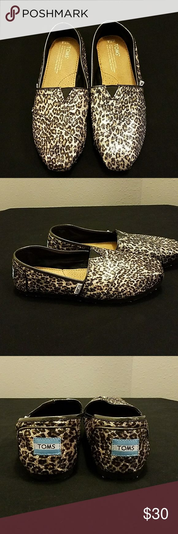 Leopard TOMS Sparkly leopard print Tom's Toms Shoes