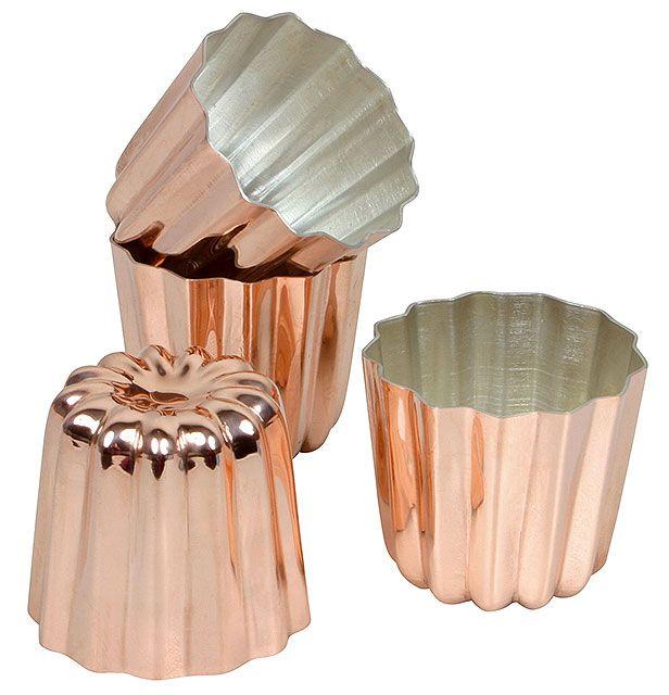 Moule à cannelé en cuivre Ø 5,5 cm  Copper Cannelé Mould Ø 5.5cm #cannele