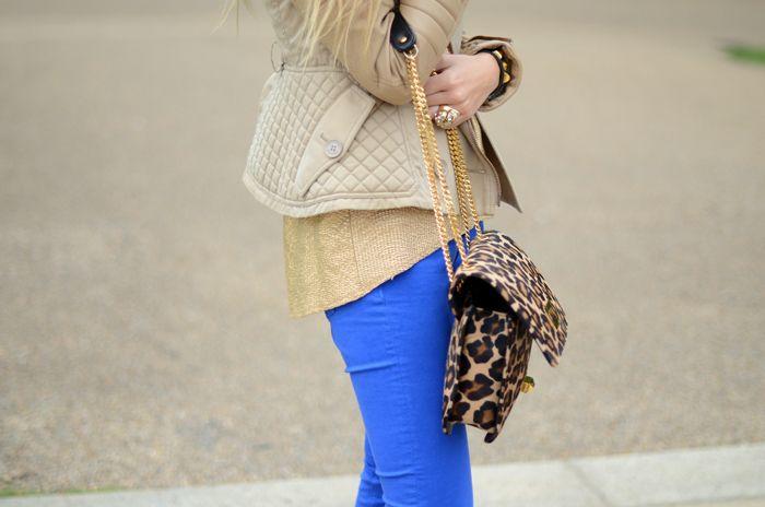 Blue Pants, leopard print